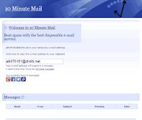 web email keren bebas spam terbaik 10 minute mail