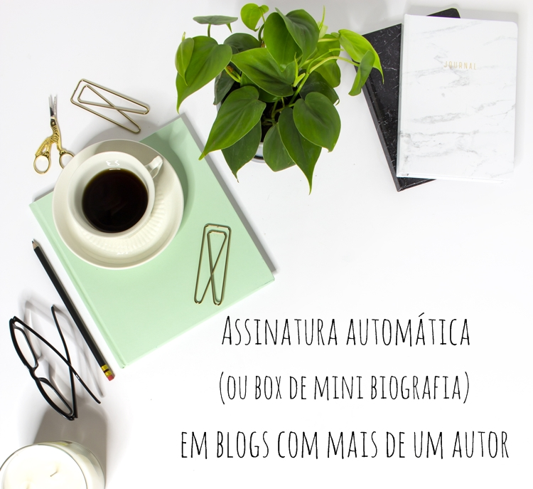 Assinatura automática para os posts (ou box de biografia) em blogs com mais de um autor