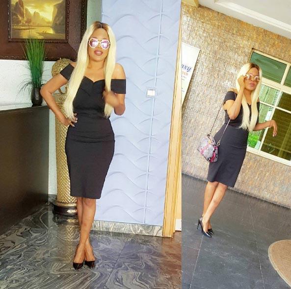 Aww! Toyin Aimakhu looks posh as she rocks blonde hair