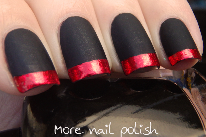 Matte Black With Red Foil Tips Inspired By Modcloth Dresses More