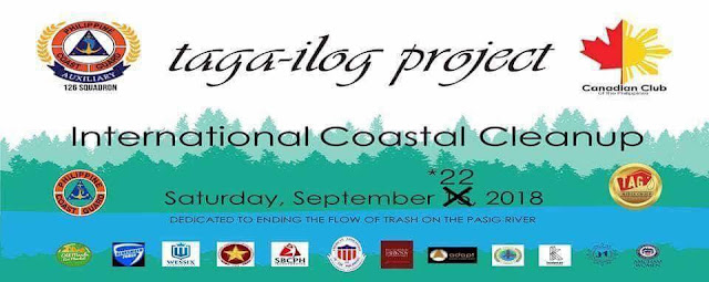 International Coastal Clean Up: Philippine Coast Guards Auxiliary 126th Squadron set to give awareness on Sept 22, 2018