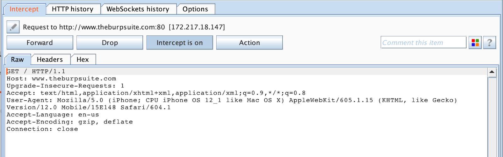 Intercepting iOS applications HTTPS traffic in Burp Suite