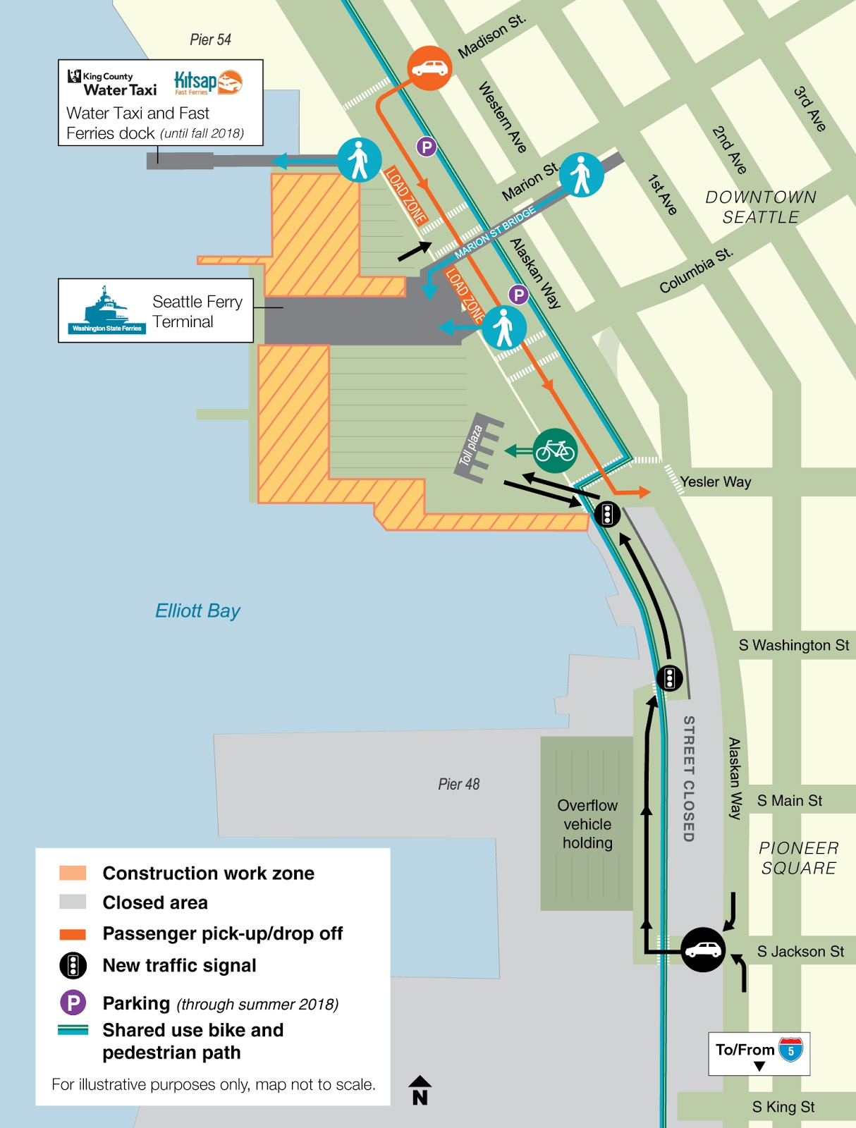 changes at colman dock on seattle s waterfront image