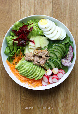Tuna and egg salad bowl