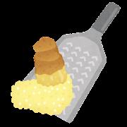 生姜のすりおろしのイラスト
