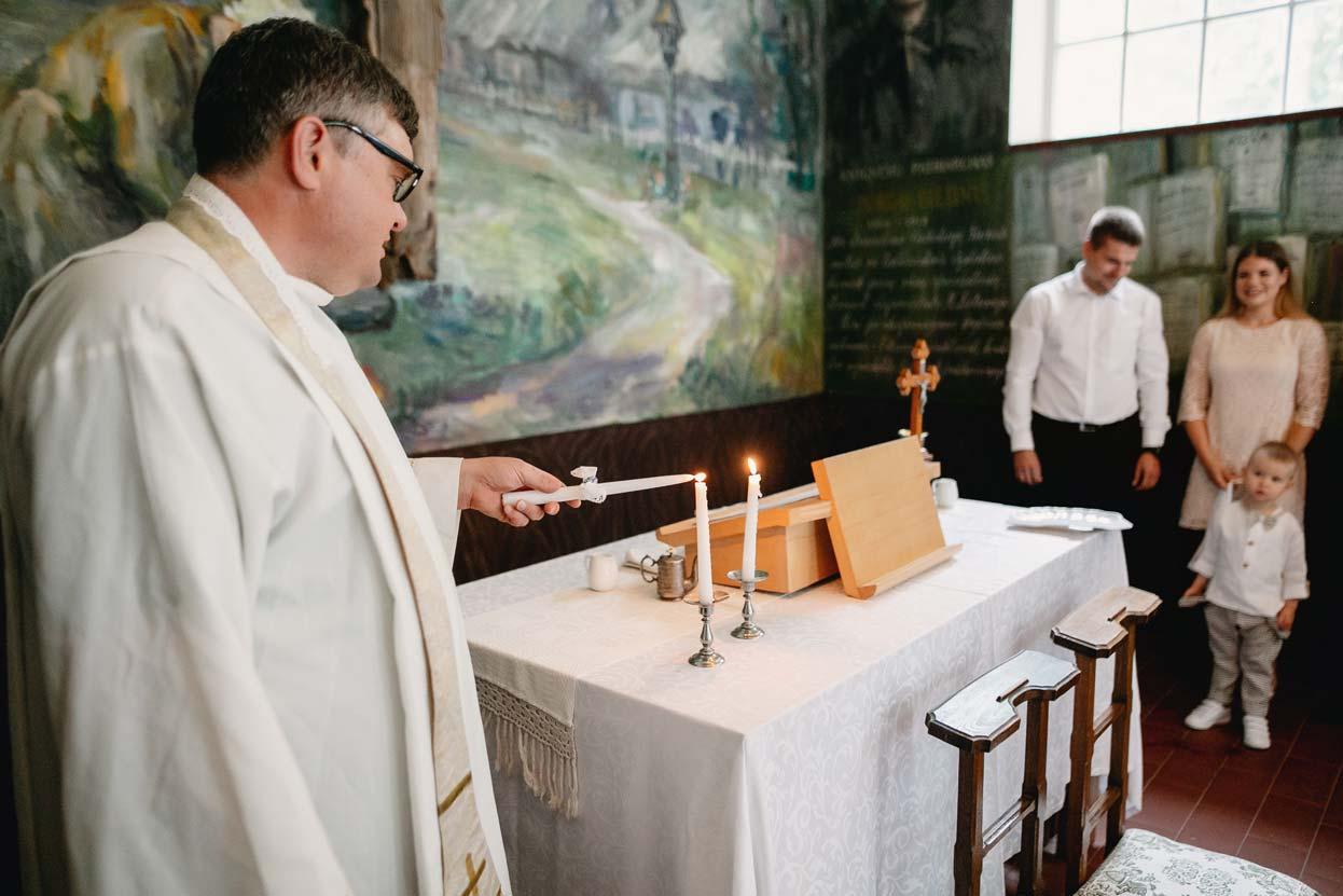 Krikštynos Bistrampolio koplyčioje