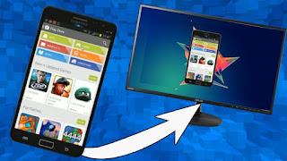 cara tampilkan layar hp android ke pc