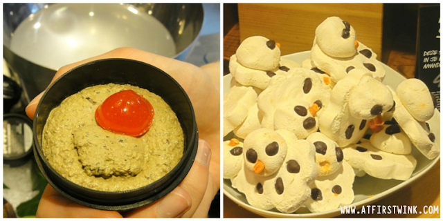 LUSH Rudolf fresh face mask and melting snow man