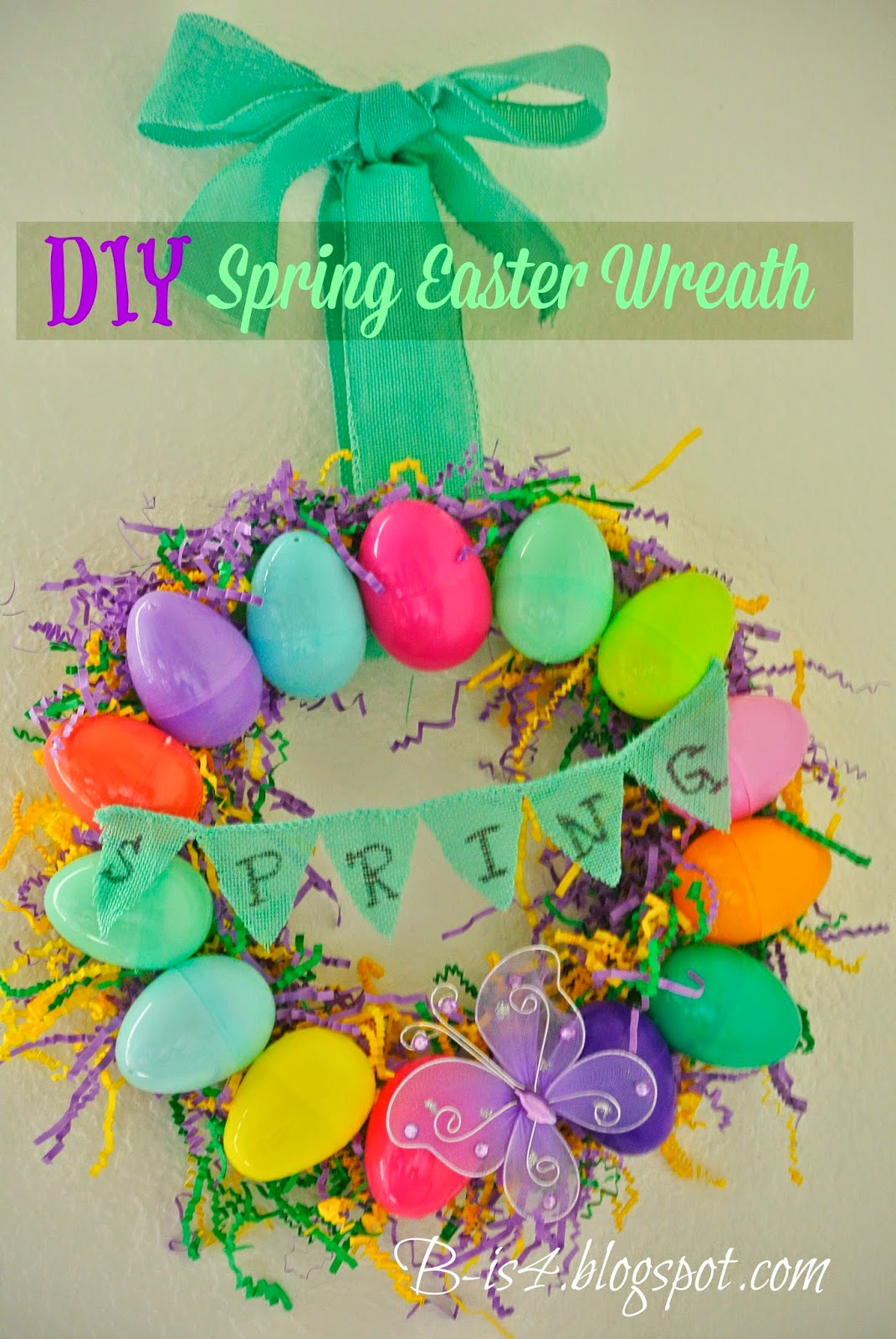 DIY Easter Egg Spring Wreath