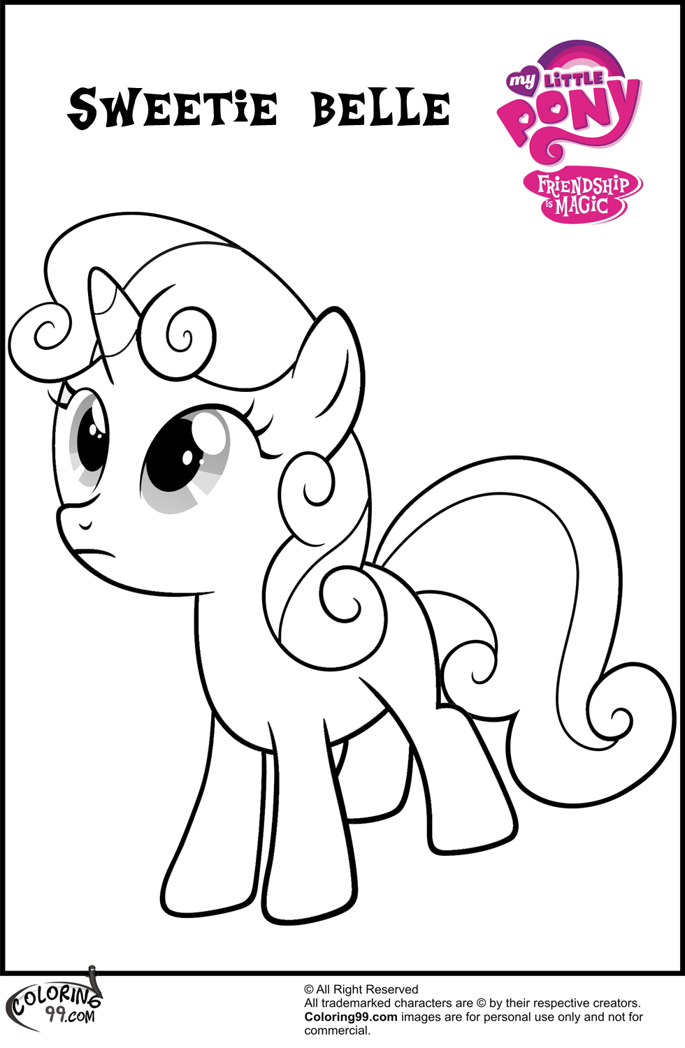 scootaloo coloring page - free my little pony scootaloo coloring pages