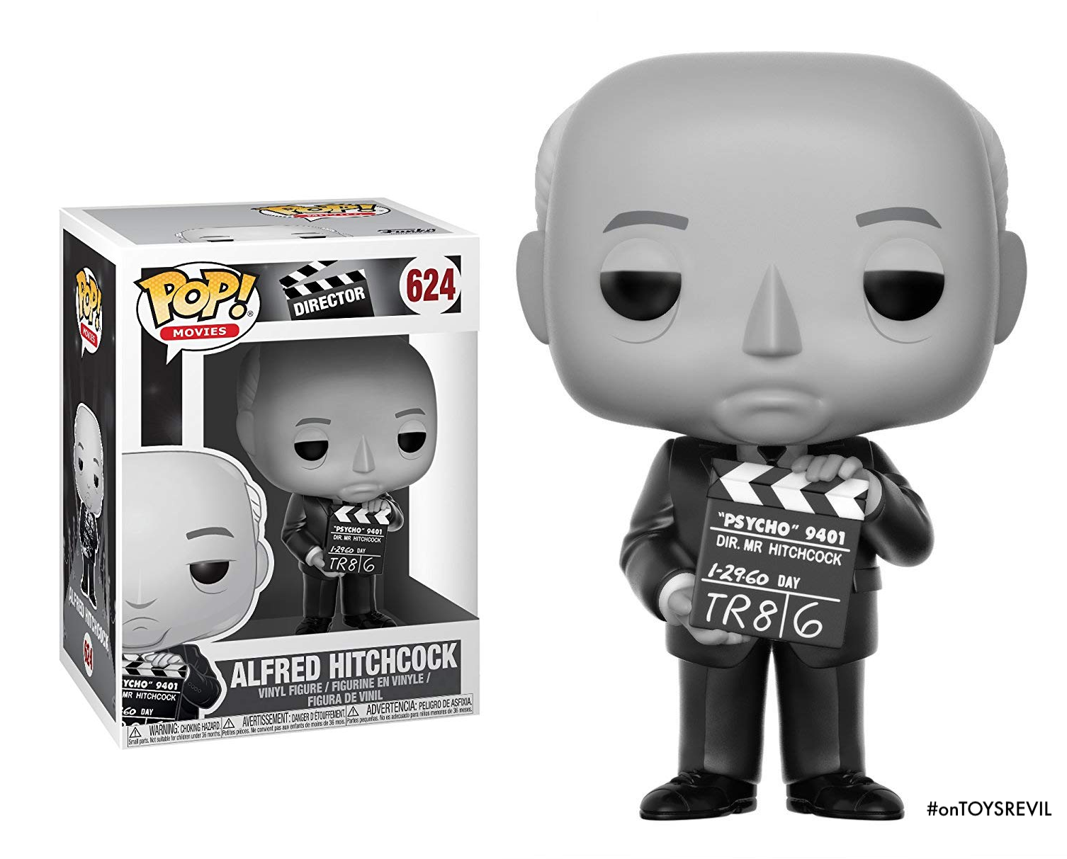 Alfred Hitchcock As Pop Vinyl From Funko For October 2018