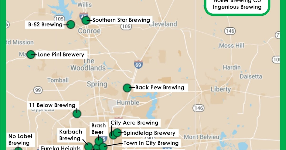 clear lake wine tasting  beer infographic  map of houston
