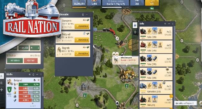 تحميل لعبة السكة الحديد Rail Nation للكمبيوتر مضغوطة