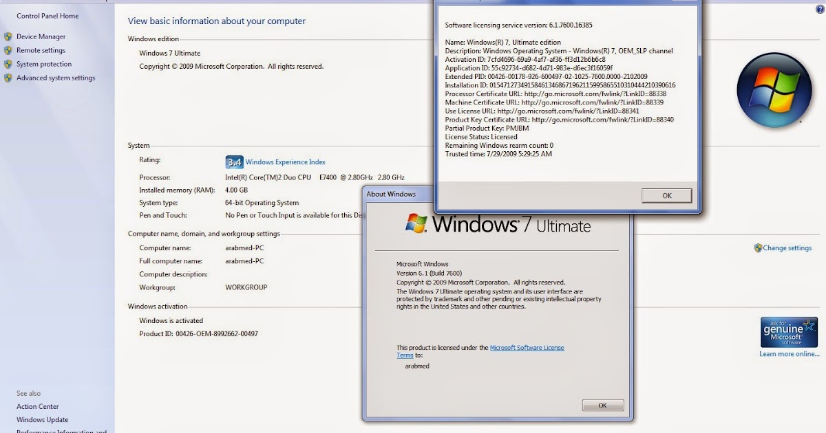 windows 7 ultimate how to activate