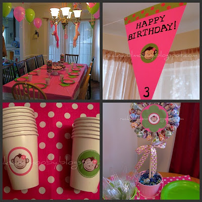 Pink Mod Monkey Party