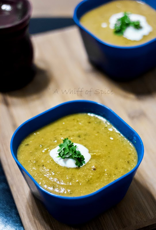 A Whiff Of Spice Roasted Zucchini And Yellow Summer Squash Soup