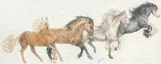dibujos-composiciones-realistas-de-corceles cuadros-caballos-pinturas