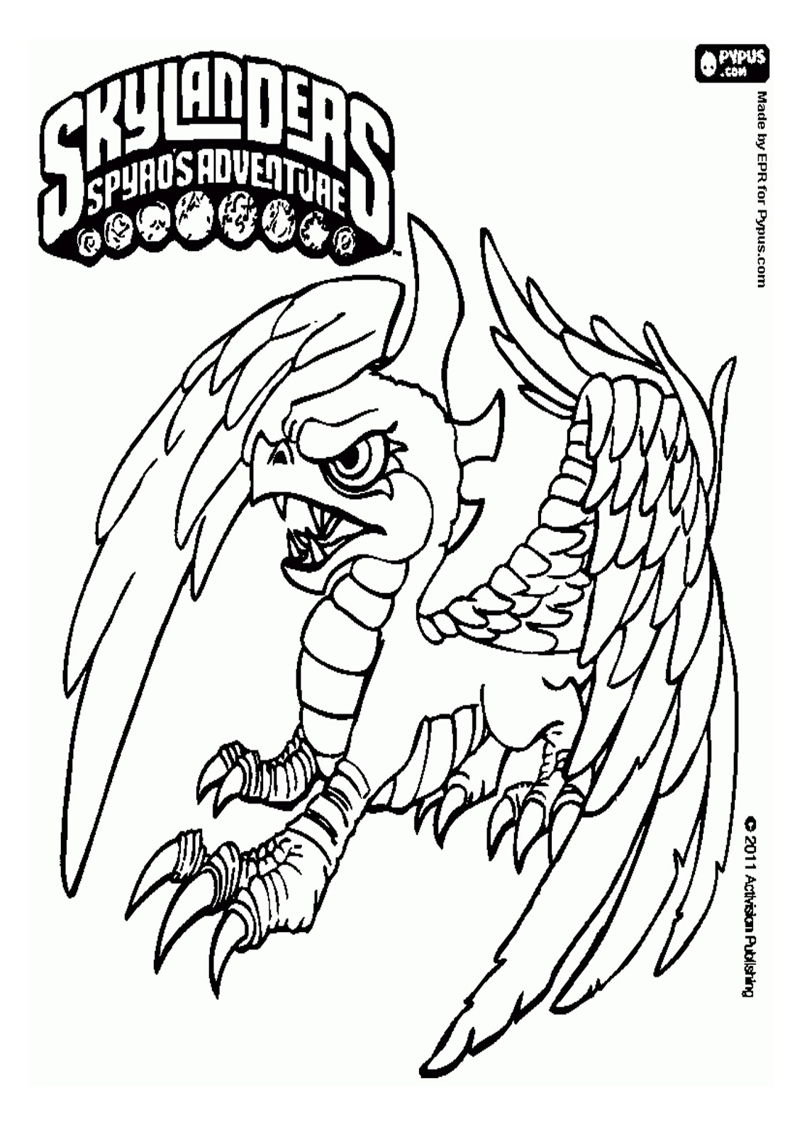 skylander coloring pages to print - photo#11