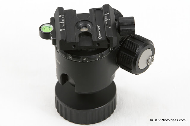 SCV-FK Flip-Kit on Sunwayfoto XB-44 Ball Head