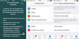 يمكن أن يسغلق WhatsApp الكثير من الذاكرة مع مرور الوقت (لقطة شاشة)