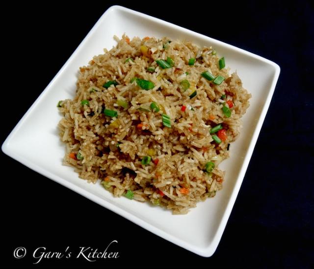 veg fried rice recipe | chinese style fried rice recipe