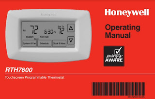 Honeywell RTH7600 Manual