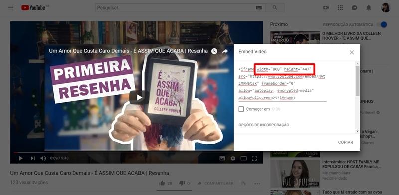 blogosfera, como dimensionar video de youtube em postagem, postagem organizada