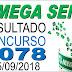 Resultado da Mega Sena concurso 2078 (15/09/2018) ACUMULOU!!!