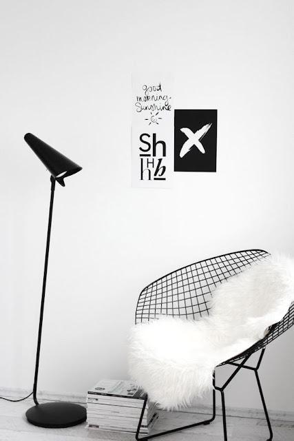 diamond chair noire