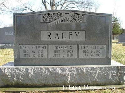 Tombstone Leota Sullivan Racey  https://jollettetc.blogspot.com