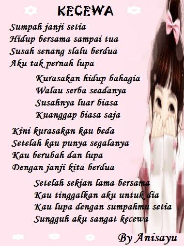 PUISI CINTA BY ANISAYU Kumpulan Puisi Cinta Sedih Dan