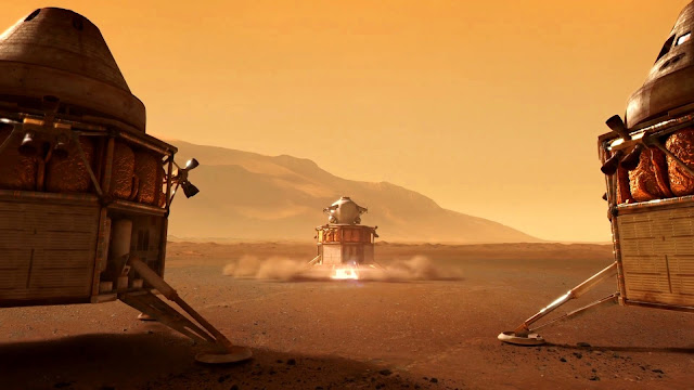 Journey to Space image - Mars liftoff