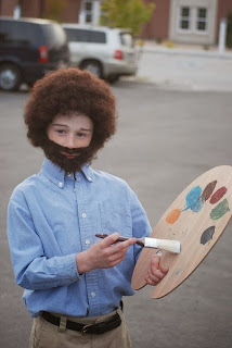 bob ross kid costume