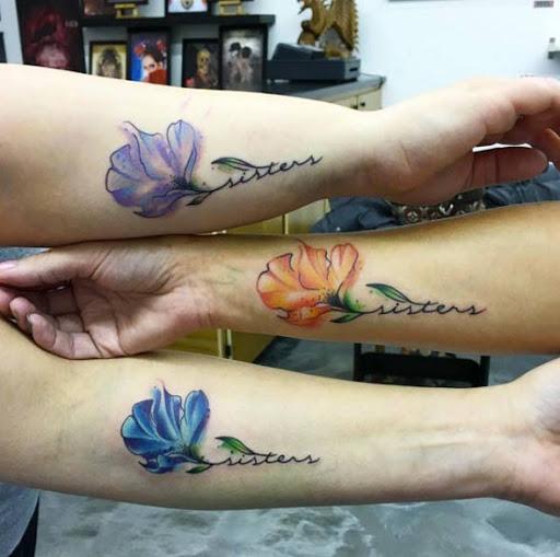 Estes correspondência floral irmã tatuagens