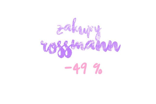 Zakupy Rossmann - 49% | Wibo, Rimmel, Maybelline, Lovely, Lirene | Listopad 2015