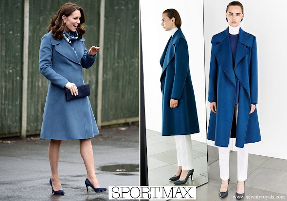Kate Middleton wore Sportmax Coat from Pre Fall 2014 Collection