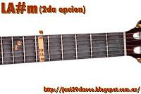 LA#m  = A#m = SIbm = Bbm acorde de guitarra menores 2da posicion