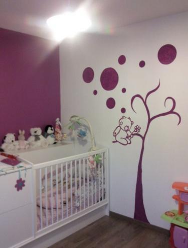 Pintar cuarto bebe poesia pintada en la pared with pintar cuarto bebe good papel pintado y - Ideas para pintar una habitacion de bebe ...