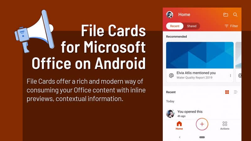 Microsoft Office for Android is getting File Cards feature