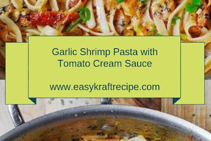 Garlic Shrimp Pasta with Tomato Cream Sauce #christmas #dinner