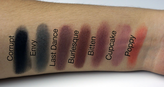 Makeup Geek shadow swatches