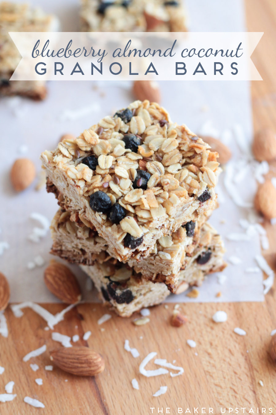 Blueberry almond coconut granola bars - healthy, delicious, and easy to make too!
