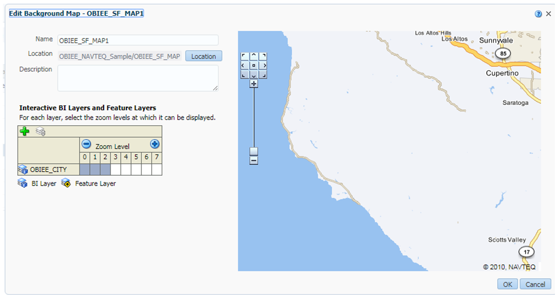 Let's Live The BI Wonder: Adding Maps 2: Integrating NAVTEQ / MVDEMO