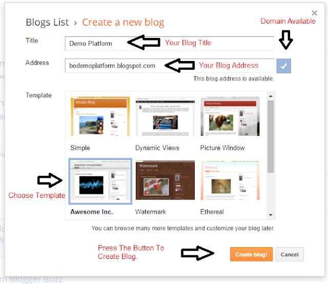 Start Blogging On Blogger