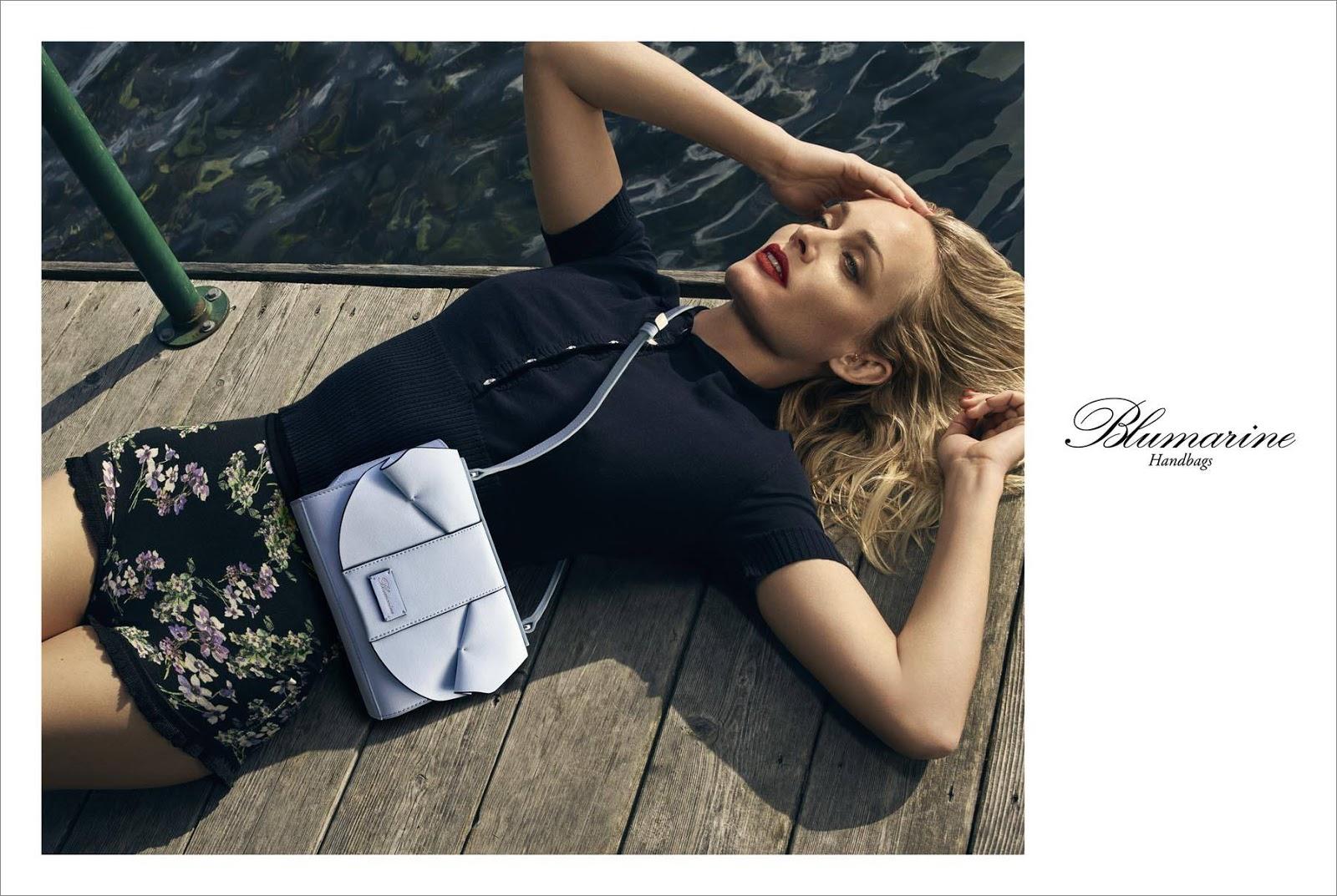 Blumarine Spring Summer 2018 Ad Campaign starring Amber Valletta
