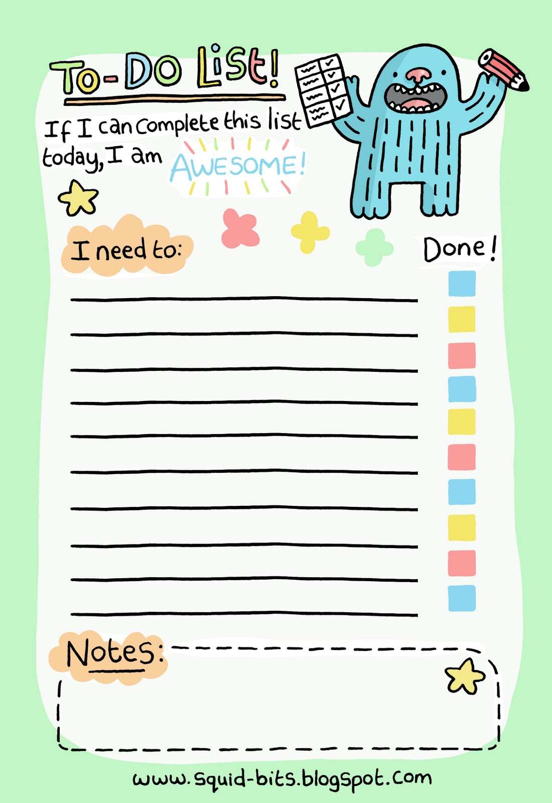 Stupendous image with to do list printable cute