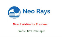 Neo Rays Software walkin for freshers
