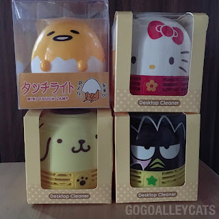 Hello Kitty, Pompompurin, Bad Badtz Maru Mini Cleaner and Gudetama Lamp