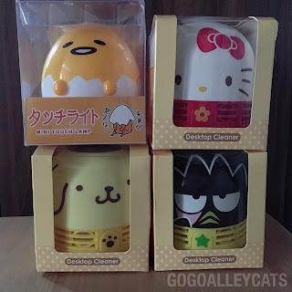 Hello Kitty, Pompompurin, Bad Badtz Maru Mini Cleaner and Gudetama Lamp