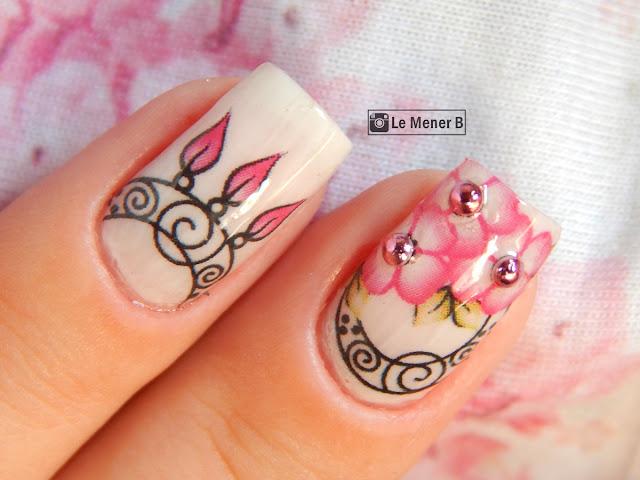 nail art de flores